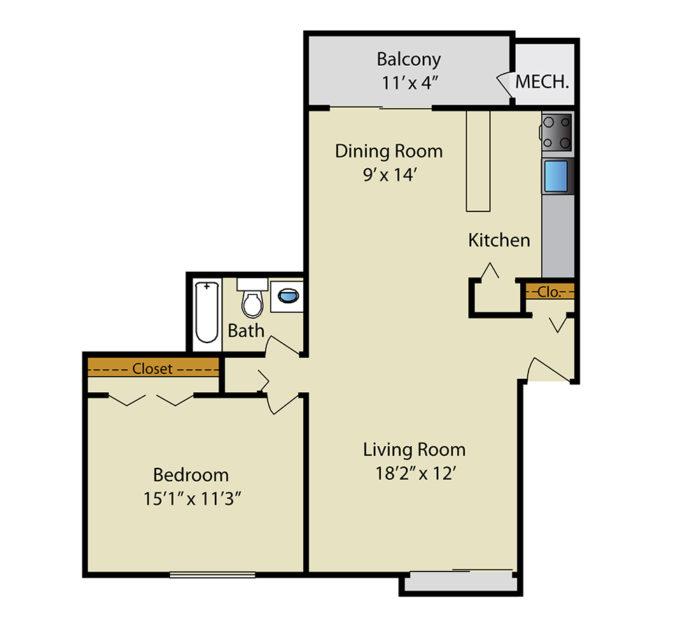 Gaither House- 1BR