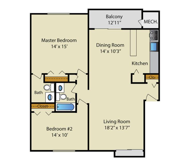 Gaither House- 2BR
